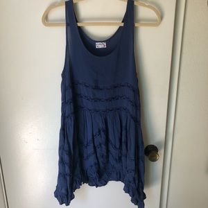 Free People Blue Trapeze Slip